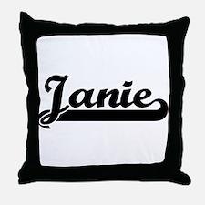 Black jersey: Janie Throw Pillow
