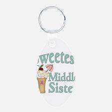 Sweetest Middle Sister Malt Keychains