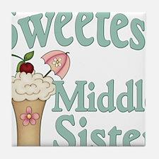 Sweetest Middle Sister Malt Tile Coaster