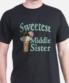Sweetest Middle Sister Malt T-Shirt
