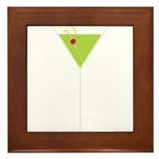 Appletini Framed Tile