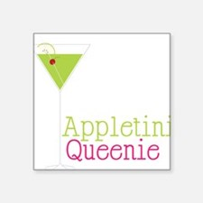"Appletini Queenie Square Sticker 3"" x 3"""