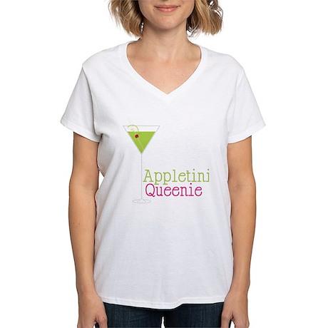 Appletini Queenie Women's V-Neck T-Shirt