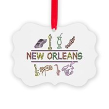 New Orleans Mardi Gras Ornament
