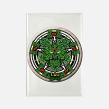 Rowan Celtic Greenman Pentacle Rectangle Magnet