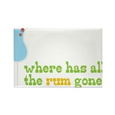 Rum Gone Rectangle Magnet