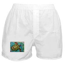 Sea turtle! Wildlife art! Boxer Shorts