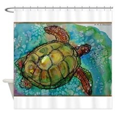Sea turtle! Wildlife art! Shower Curtain