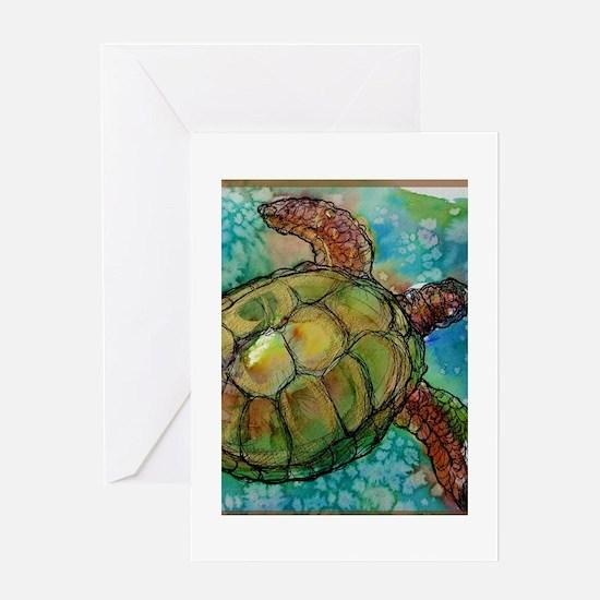 Sea turtle! Wildlife art! Greeting Card