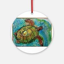Sea turtle! Wildlife art! Ornament (Round)