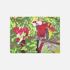 Macaws 5'x7'Area Rug