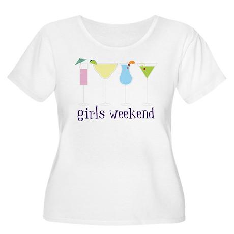 Girls Weekend Women's Plus Size Scoop Neck T-Shirt