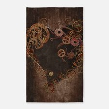 Steampunk Heart 3'x5' Area Rug
