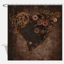 Steampunk Heart Shower Curtain