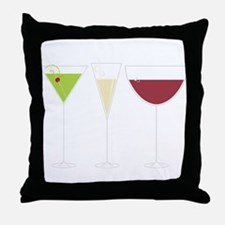 Drink Trio Throw Pillow