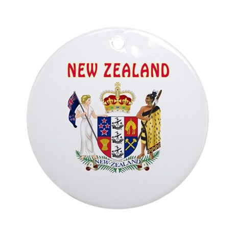 60th Wedding Anniversary Gifts New Zealand : New Zealand Coat of arms Ornament (Round) by tshirts4countries