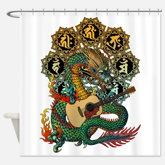 Ryuu Guitar 02 Shower Curtain