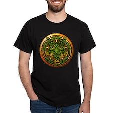 Ash Celtic Greenman Pentacle T-Shirt