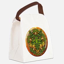 Ash Celtic Greenman Pentacle Canvas Lunch Bag