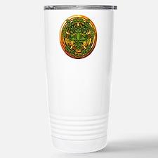 Ash Celtic Greenman Pentacle Travel Mug