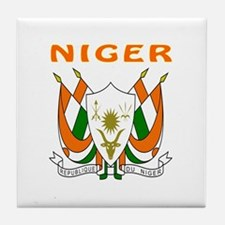 Niger Coat of arms Tile Coaster