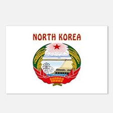 North Korea Coat of arms Postcards (Package of 8)