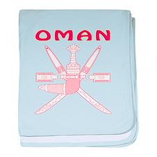 Oman Coat of arms baby blanket