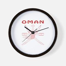 Oman Coat of arms Wall Clock
