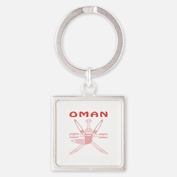 Oman Coat of arms Square Keychain