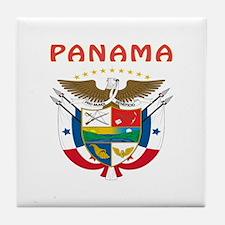 Panama Coat of arms Tile Coaster