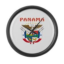 Panama Coat of arms Large Wall Clock