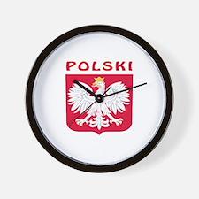 Polski Coat of arms Wall Clock