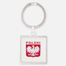 Polski Coat of arms Square Keychain