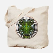 Alder Celtic Greenman Pentacle Tote Bag