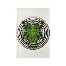 Alder Celtic Greenman Pentacle Rectangle Magnet