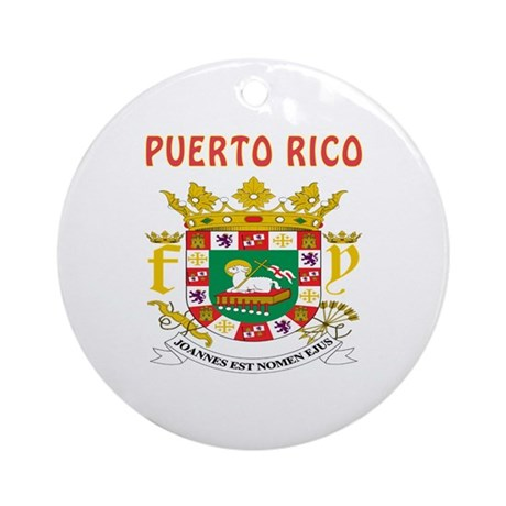 Puerto Rico Coat of arms Ornament (Round)