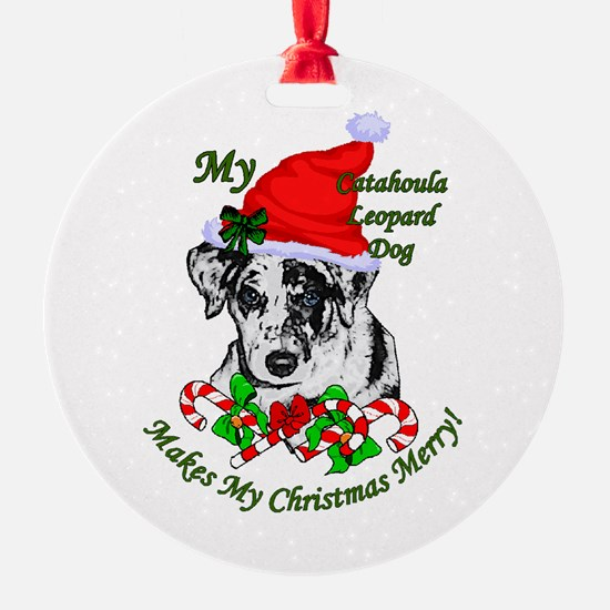 Catahoula Leopard Dog Christmas Ornament