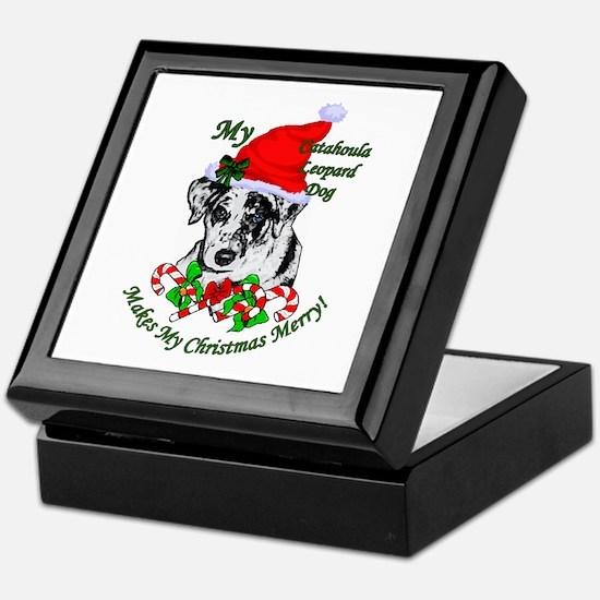 Catahoula Leopard Dog Christmas Keepsake Box