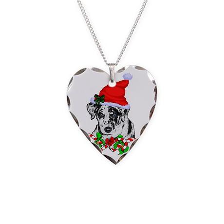 Catahoula Leopard Dog Necklace Heart Charm