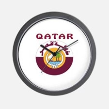 Qatar Coat of arms Wall Clock