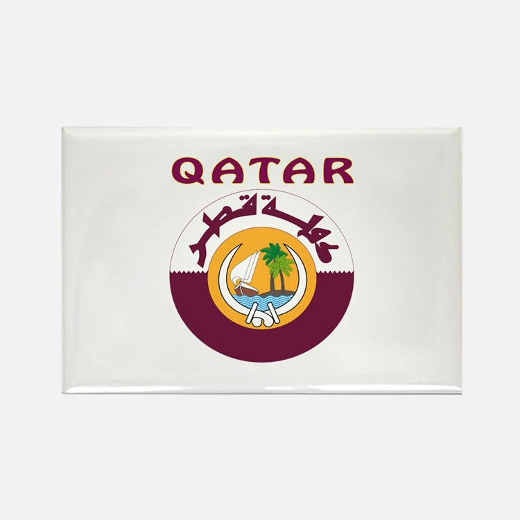 Qatar Coat of arms Rectangle Magnet