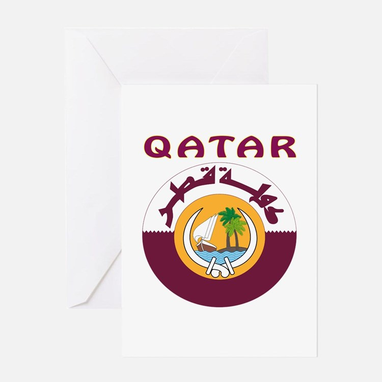 Qatar Coat of arms Greeting Card