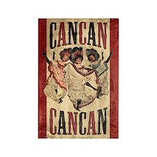 Vintage Cancan Poster Art Rectangle Magnet