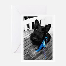 Scottie dog puppy Greeting Card