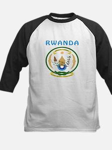 Rwanda Coat of arms Kids Baseball Jersey