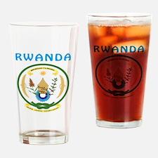 Rwanda Coat of arms Drinking Glass