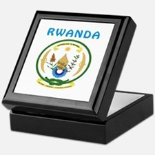 Rwanda Coat of arms Keepsake Box