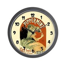 Pippermint Vintage Drink Art Wall Clock