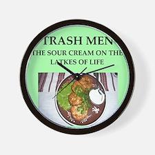trash men Wall Clock
