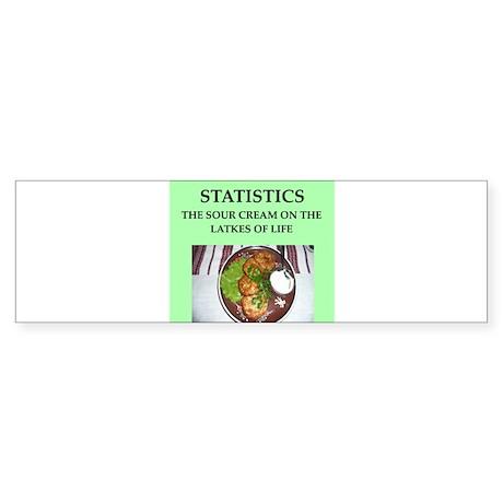 statistics Sticker (Bumper)